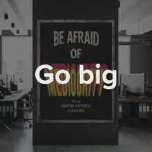 "Load image into Gallery viewer, ""Daymond John - Be Afraid Of Mediocrity"" Motivational Canvas Quote by Ikonick"