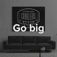 "Load image into Gallery viewer, Cleveland Cavaliers Backboard Wall Street Art Canvas Artwork ""Cleveland Cavaliers Backboard"" by IKONICK"