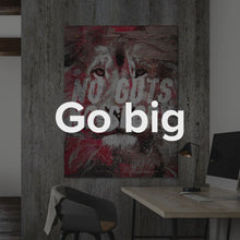 "Load image into Gallery viewer, Modern/Pop Culture Canvas Motivational Quote Wall Art ""No Guts No Glory"" by IKONICK"