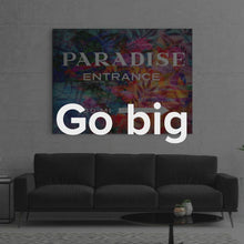 "Load image into Gallery viewer, Modern/Pop Culture Canvas Wall Art Travel Beach Art ""Paradise"" by IKONICK"