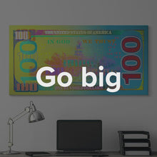 "Load image into Gallery viewer, ""Paper Jam Back"" Money Motivational Canvas Art by IKONICK"