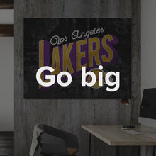 "Load image into Gallery viewer, Abstract Basketball Art Paintings Canvas ""Los Angeles Lakers Greetings"" by IKONICK"