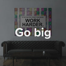 "Load image into Gallery viewer, Colorful Modern Pop Art Wall Art Canvas ""Work Harder. (Pastel Edition)"" By IKONICK"