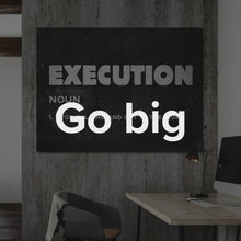 "Load image into Gallery viewer, Motivational Quote Modern/Pop Culture Canvas Wall Art ""Execution"" by IKONICK"