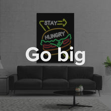 "Load image into Gallery viewer, In-N-Out Burger Style Canvas Wall Art Motivational Quote ""Stay Hungry"" by IKONICK"