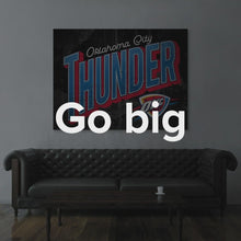 "Load image into Gallery viewer, Oklahoma State Flag Canvas Oklahoma City Thunder Wall Art ""Oklahoma City Thunder Greetings"" by IKONICK"