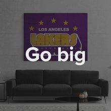 "Load image into Gallery viewer, Basketball NBA Street Art Sports Wall Canvas ""Los Angeles Lakers Retro Stars"" by IKONICK"