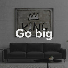 "Load image into Gallery viewer, Modern Pop Art Inspirational Wall Art Canvas ""Hail The King"" by IKONICK"