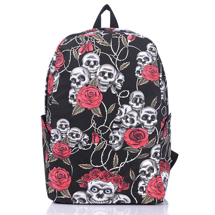 Skull and Rose Bookbag