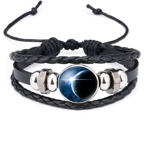 Leather Space Bracelet