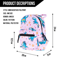 Blue Unicorn Mini Backpack