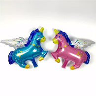 Unicorn Pink and Blue Foil Balloons - The Unicorn Shop