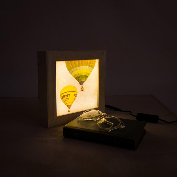 Hot air balloon light box