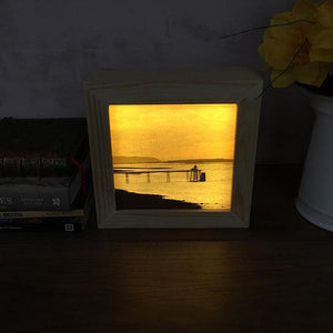 Bristol-based photographer builds light box frame to make her Clevedon Pier photo glow