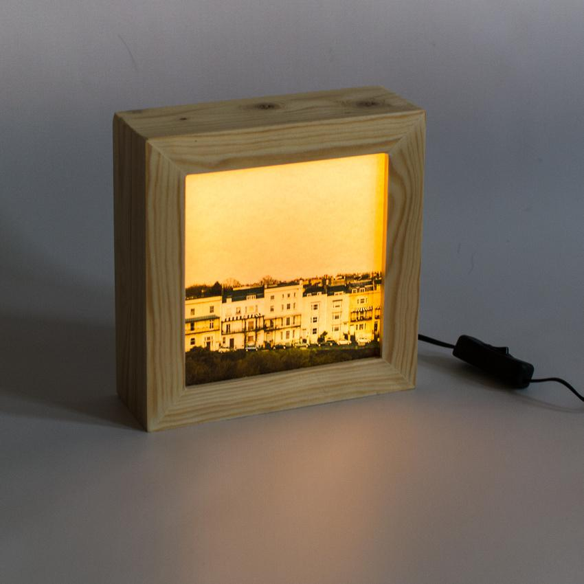 Clifton houses captures in a wooden light box