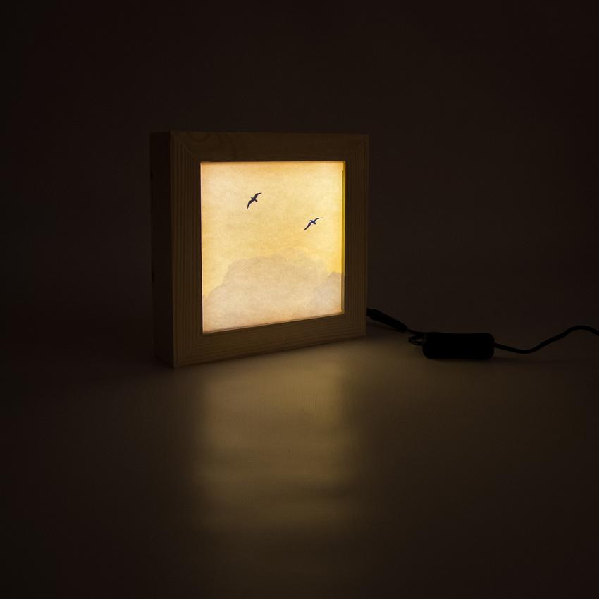 Wooden light box handmade in the South West