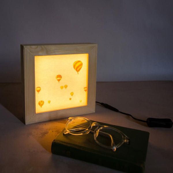My hot air balloon light box is handcrafted in Bristol.