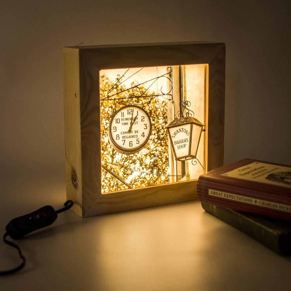 Wooden night light. Handmade in Bristol.