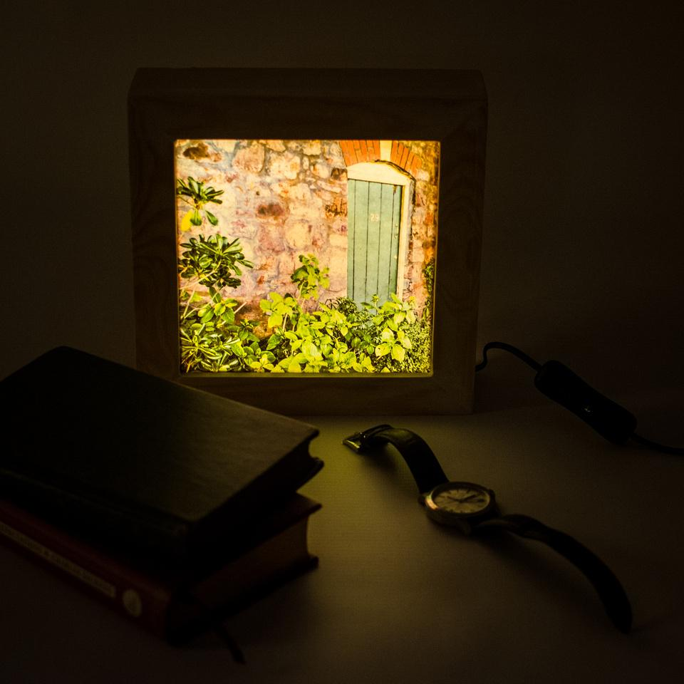 Wooden backlit box