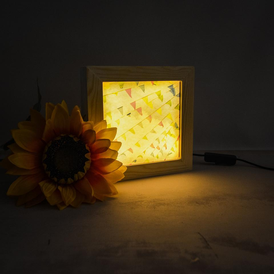Wooden light up frame | Bristol in a Box