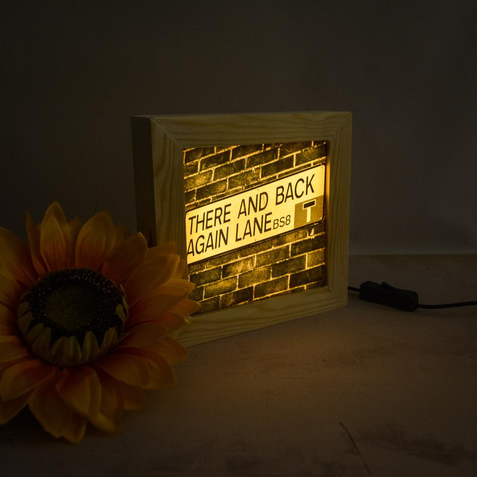 Gifts for the home. Wooden lightboxes by Bristol in a Box