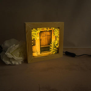 Wooden light box featuring Bradford