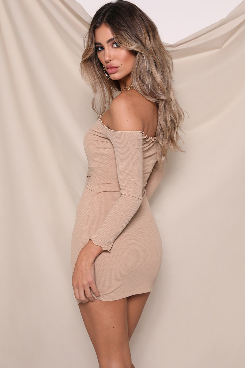 Jennifer Mini Dress - Tan