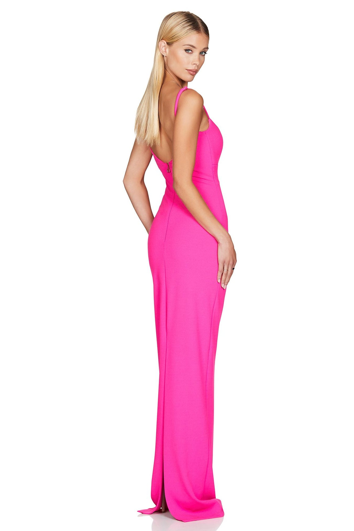 Bailey Gown - Neon Pink
