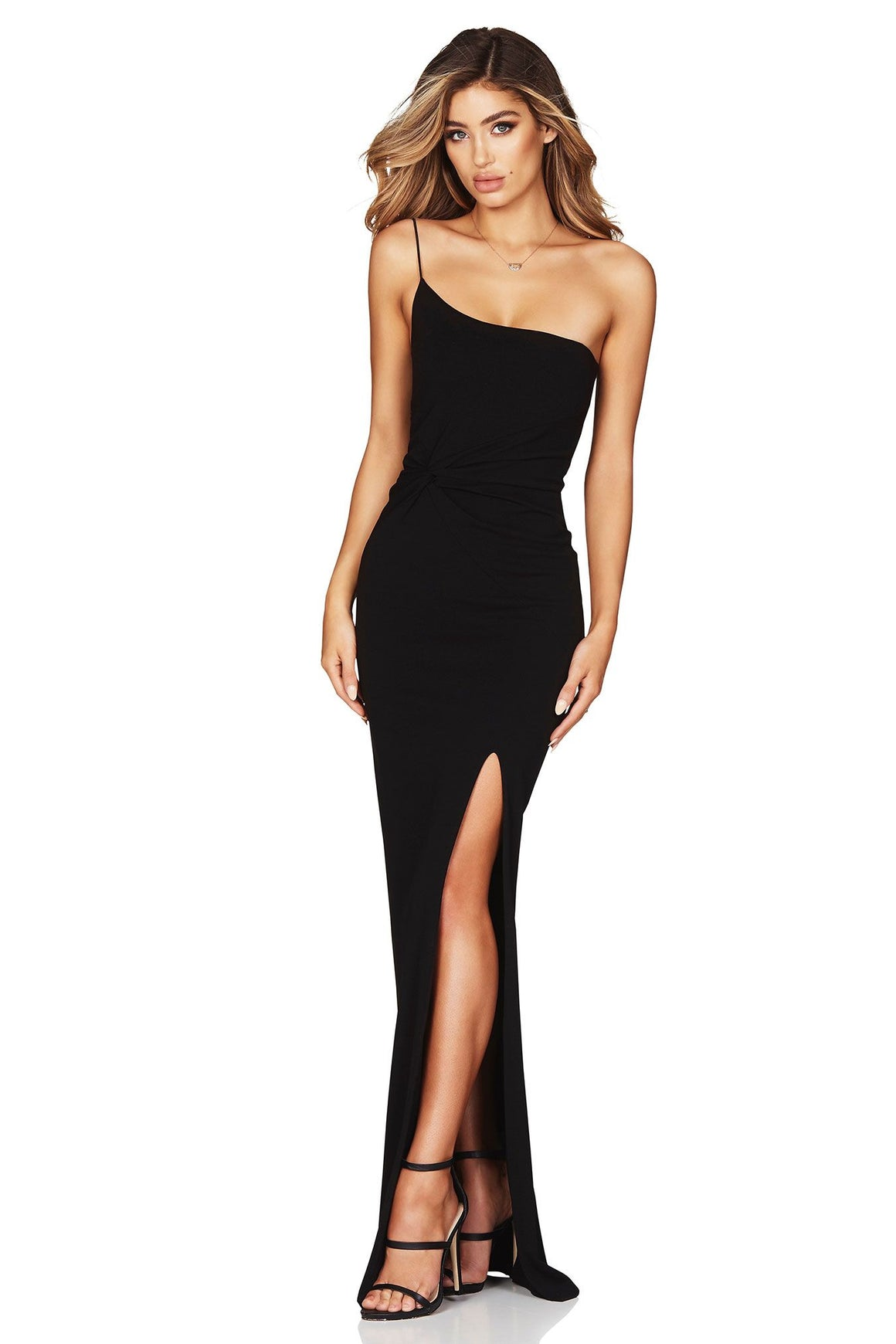Lust One Shoulder Gown - Black