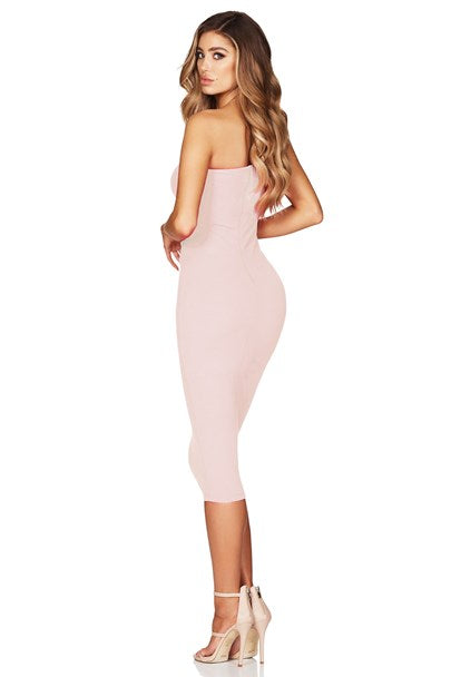 Lust One Shoulder Midi - Blush