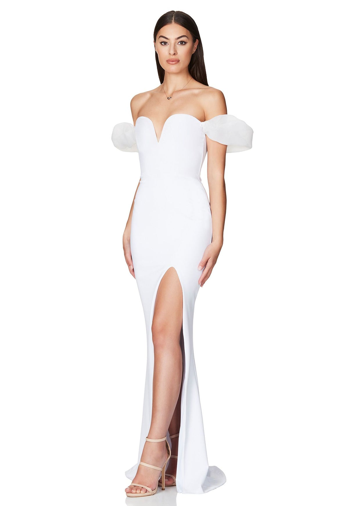 Eleganza Gown - White