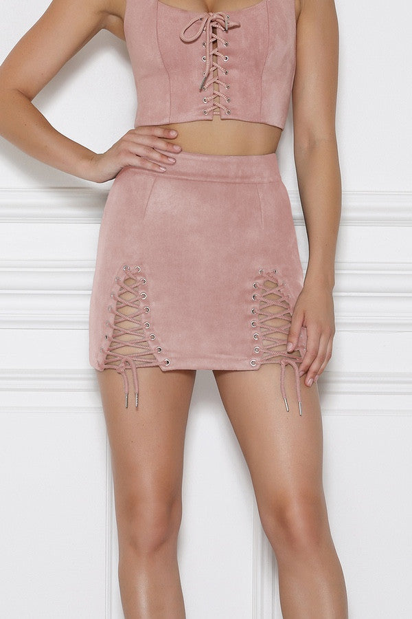 Bromley Mini Skirt - Rose