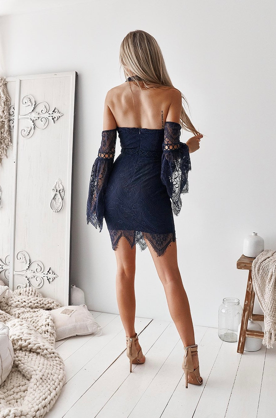 Katherine Dress - Navy