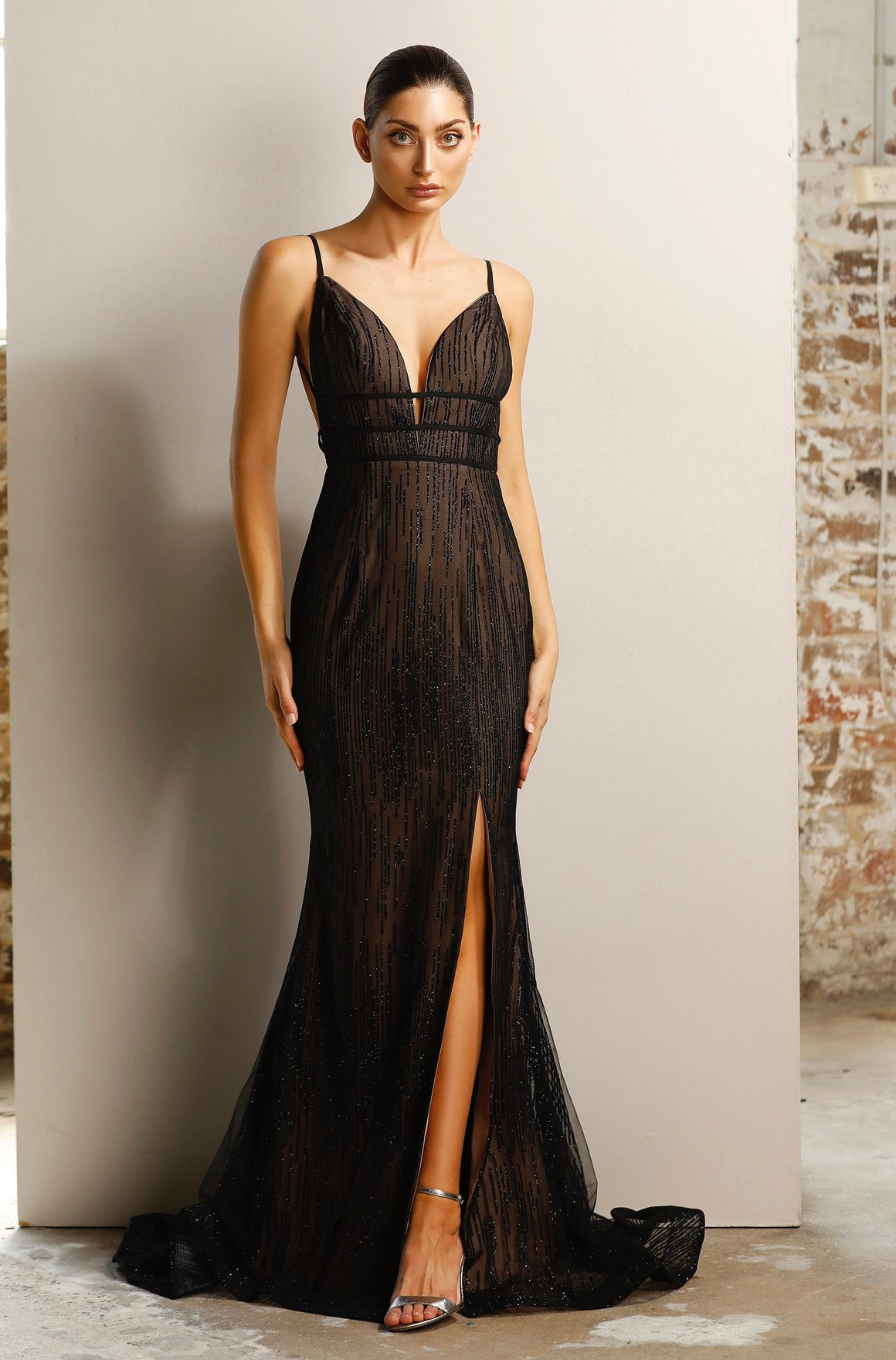 Ava Gown JX1124 - Black