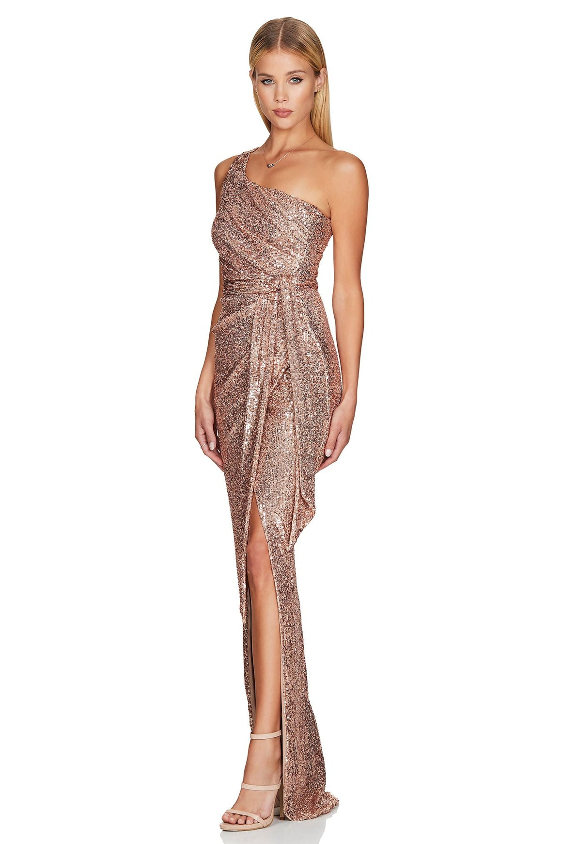 Palazzo Gown - Rose Gold