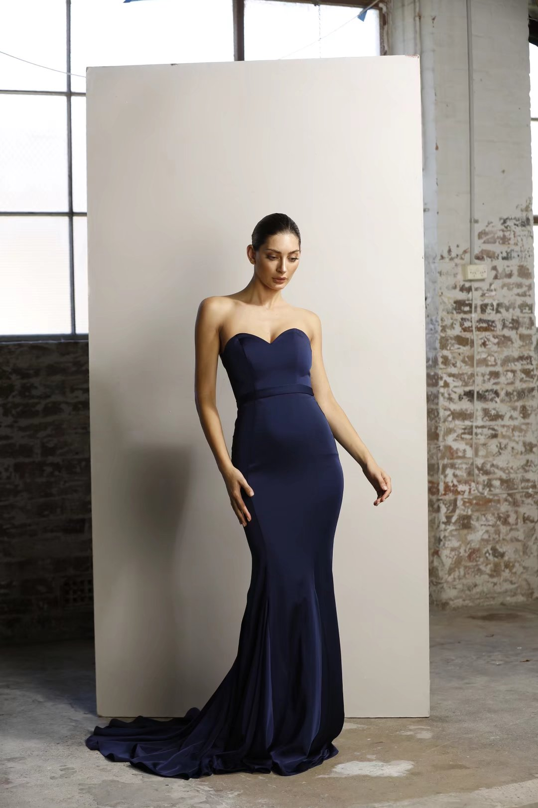 Mila Gown JX1047 - Navy