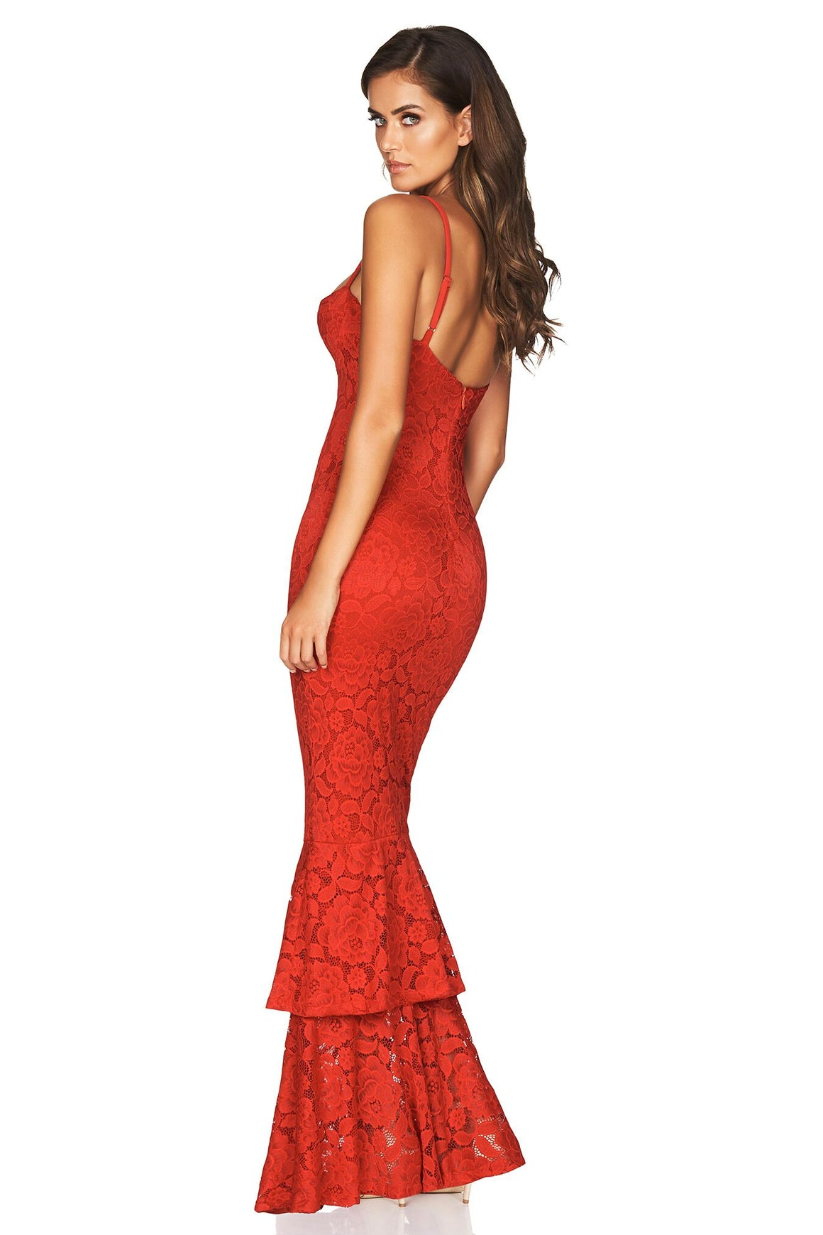 Liana Lace Gown - Red