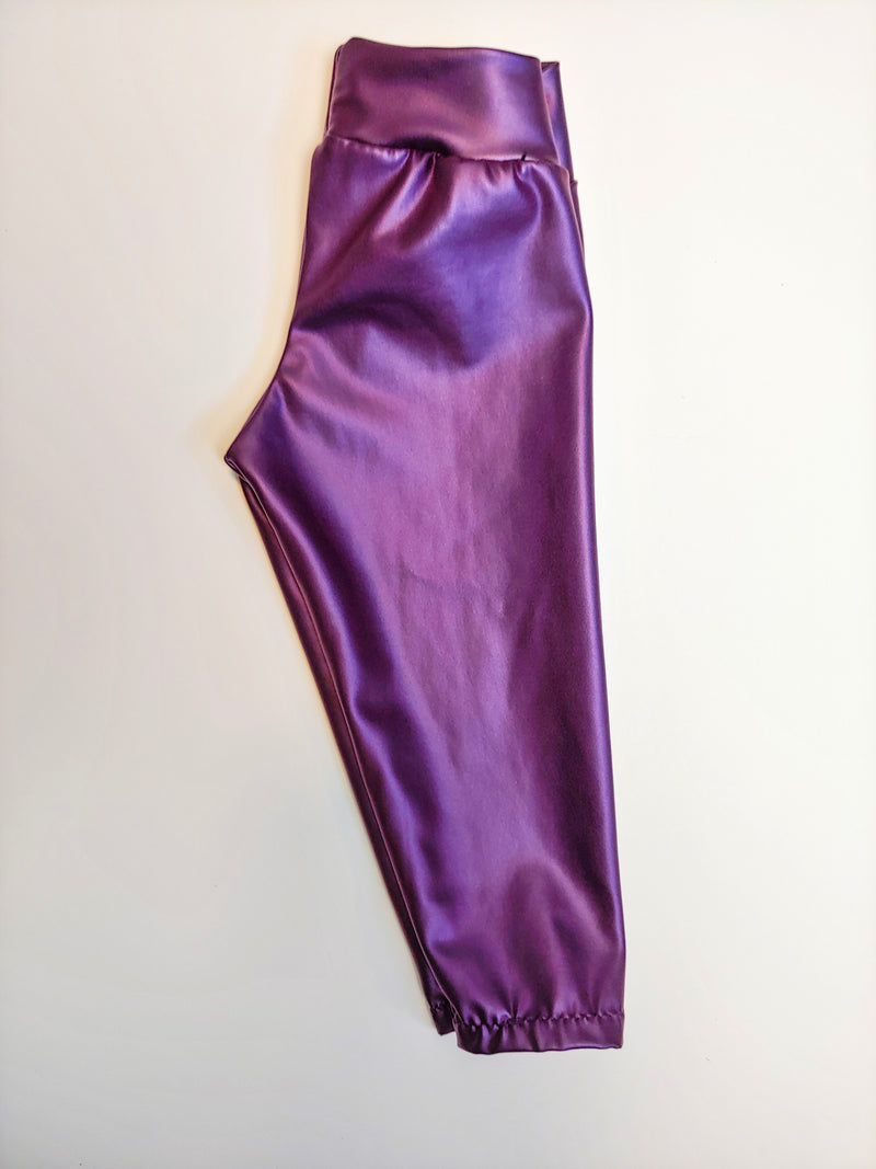 Little Leggings - Purple Metallic