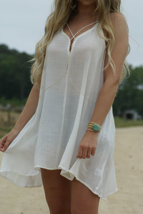 Criss Cross Boho Beach Dress | Claire de Lune Boutique