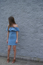 Off the Shoulder Denim Dress | Claire de Lune Boutique