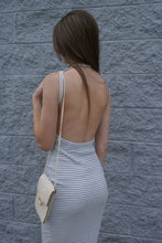 Striped Open Back Midi Dress | Claire de Lune Boutique
