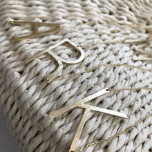 Oversized Initial Letter Necklace | Claire de Lune Boutique
