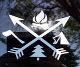 Camping Vinyl Decal - Hillbilly Decals