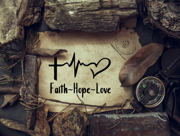 Faith, Hope and Love Vinyl Decal - Hillbilly Decals