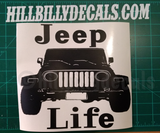 Black Jeep Life Vinyl Decal-Hillbilly Decals