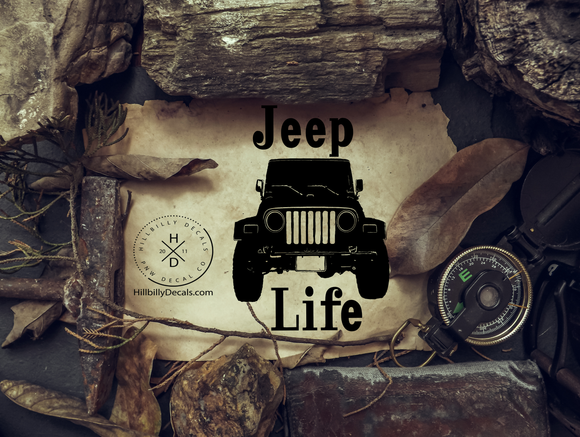 Jeep Life Vinyl Decal - Hillbilly Decals