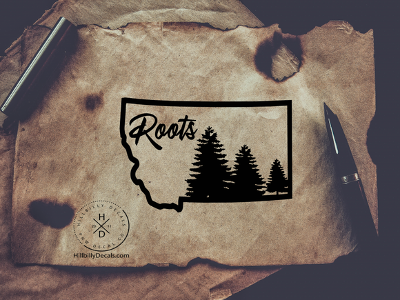 Montana Roots vinyl decal - Hillbilly Decals