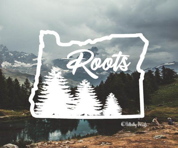 Oregon Roots vinyl decal