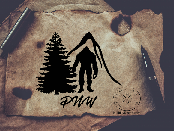 PNW Bigfoot V1  Vinyl Decal - Hillbilly Decals