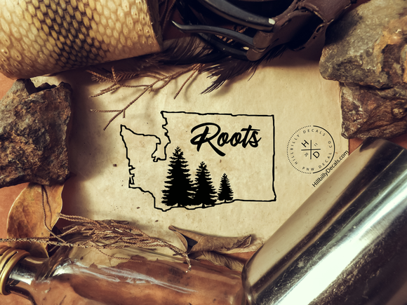 Washington Roots vinyl decal - Hillbilly Decals